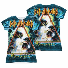 Def Leppard Shirt Hysteria Sublimation Juniors Shirt