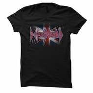 Def Leppard Shirt Juniors British Black T-Shirt