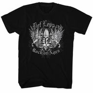Def Leppard Shirt Rock Of Ages Black Tee T-Shirt