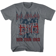Def Leppard Shirt USA Tour 1983 Grey Tee T-Shirt