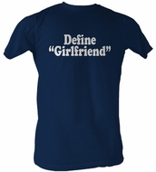 Define Girlfriend Funny Adult Navy Tee T-Shirt