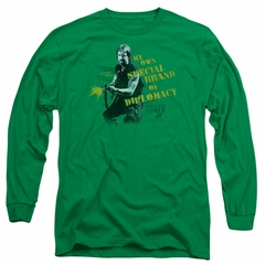 Delta Force 2 Long Sleeve Shirt Special Diplomacy Kelly Green Tee T-Shirt