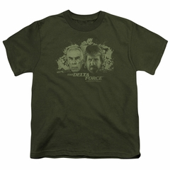 Delta Force Kids Shirt Explosion Military Green T-Shirt