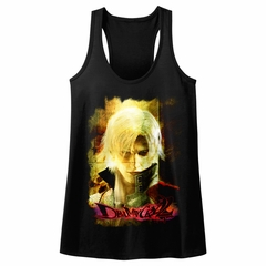 Devil May Cry 2 Juniors Tank Top Dante's Stare Black Racerback
