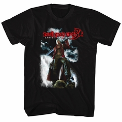 Devil May Cry 3 Video Game Shirt Dantes Awakening Black T-Shirt