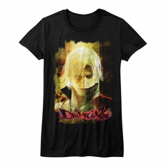 Devil May Cry 2 Shirt Juniors Dante's Stare Black T-Shirt