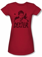 Dexter Juniors Shirt Splatter Red T-shirt Tee