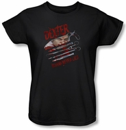 Dexter Ladies Shirt Blood Never Lies Black T-Shirt Tee