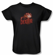 Dexter Ladies Shirt Drawing Black T-Shirt Tee