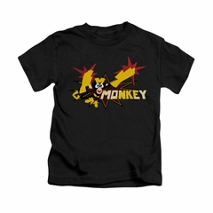 Dexter's Laboratory Shirt Kids Monkey Black Youth Tee T-Shirt
