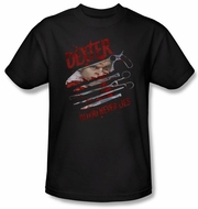 Dexter Shirt Blood Never Lies Adult Black T-Shirt Tee