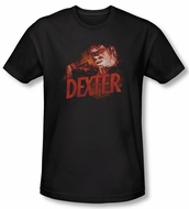Dexter Shirt Drawing Adult Black T-Shirt Tee