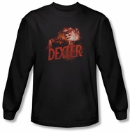 Dexter Shirt Drawing Black Long Sleeve T-Shirt Tee