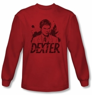 Dexter Shirt Splatter Red Long Sleeve T-Shirt Tee