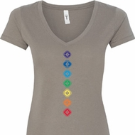 Diamond Chakras Ladies Shirts