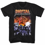 Digital Underground Shirt Bootleg Black T-Shirt