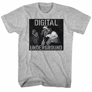 Digital Underground Shirt Mic On Stage Athletic Heather T-Shirt