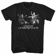 Digital Underground Shirt Stage Shock G And Tupac Black T-Shirt