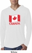 Distressed Canada Flag Lightweight Hoodie Shirt