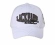 Distressed Lackpard Patch Hat with V Shape Stitch on Visor White