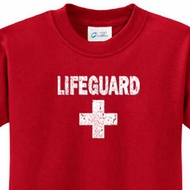 Distressed Lifeguard Kids Shirts