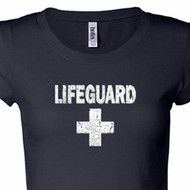 Distressed Lifeguard Ladies Shirts