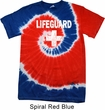 Distressed Lifeguard Patriotic Tie Dye Shirt