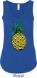 Distressed Pineapple Ladies Flowy V-neck Tanktop