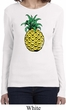 Distressed Pineapple Ladies Long Sleeve Shirt