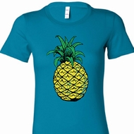 Distressed Pineapple Ladies Longer Length Shirt