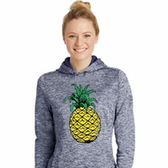 Distressed Pineapple Ladies Moisture Wicking Hoodie