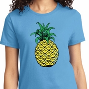 Distressed Pineapple Ladies Shirts