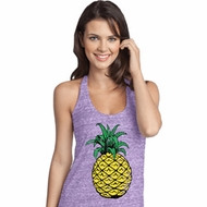 Distressed Pineapple Ladies T-Back Tank Top