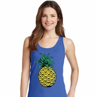 Distressed Pineapple Ladies Tank Top