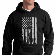 Distressed Stars and Stripes Flag Hoodie