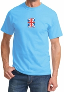 Distressed Union Jack Flag Small Print Mens Shirts