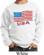 Distressed USA Flag Kids Sweatshirt