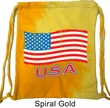Distressed USA Flag Tie Dye Bag