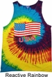 Distressed USA Flag Tie Dye Tank Top