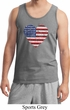 Distressed USA Heart Mens Tank Top