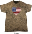 Distressed USA Heart Mineral Tie Dye Shirt