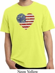 Distressed USA Heart Pigment Dyed Shirt