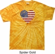 Distressed USA Heart Spider Tie Dye Shirt