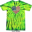 Distressed USA Heart Tie Dye Shirt