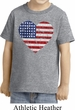 Distressed USA Heart Toddler Shirt