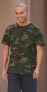 District Made Shirt Perfect Weight Camouflage Crew Tee T-Shirt