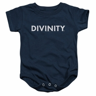 Divinity Baby Romper Logo Navy Infant Babies Creeper