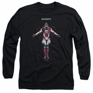 Divinity Long Sleeve Shirt Space Black Tee T-Shirt