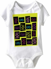 DNA Stuff Funny Baby Romper White Infant Babies Creeper