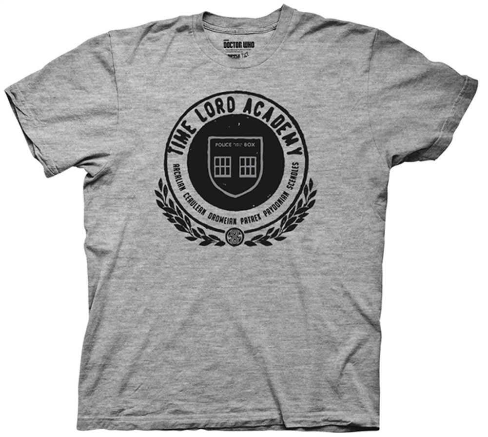 Doctor Who Shirt Time Lord Academy Athletic Heather T